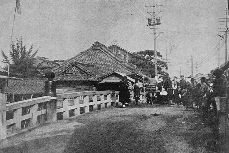 ありし日の裁断橋・姥堂