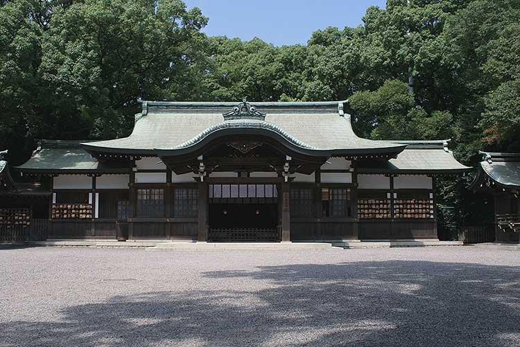 現在の上知我麻神社(熱田神宮内)