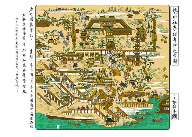 熱田社亨禄年中之古図 Atsuta Shrine old figure(1528~31)