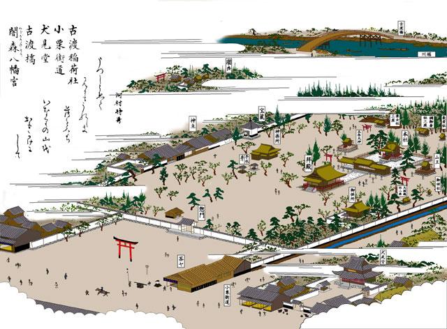 古渡稲荷(山王神社)と小栗街道