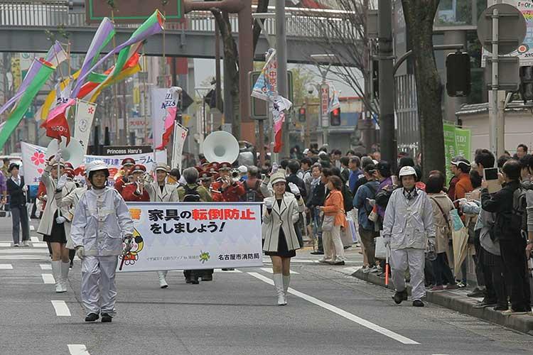 パレード出発(矢場町)