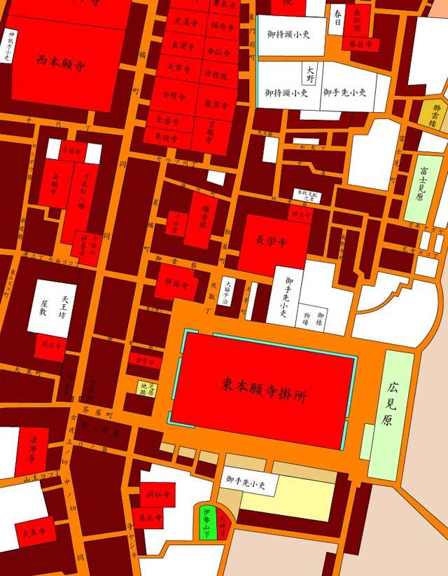 江戸時代橘町周辺地図