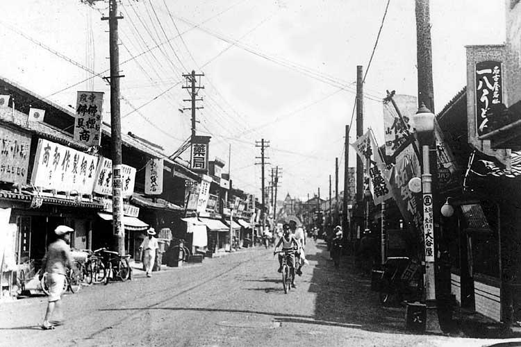 橘町界隈の本町通(昭和初期)