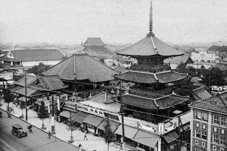 七ツ寺周辺(昭和時代初頭)