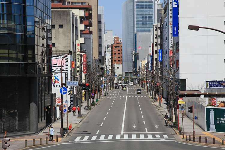 本町通北方向