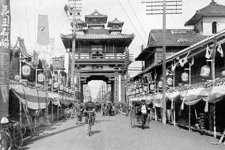本町通広小路南(昭和時代初頭)