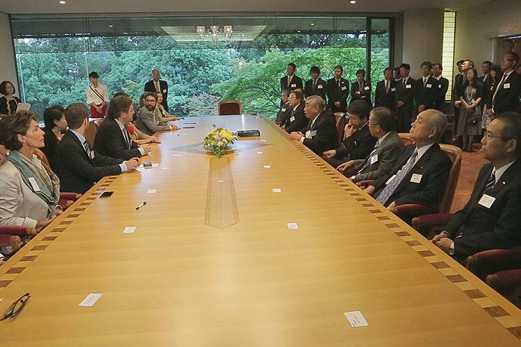 姉妹提携日本側調印式