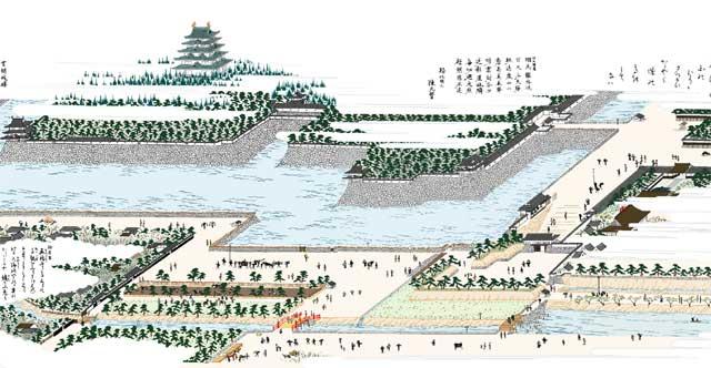朝日橋堀留 Nagoya Castle