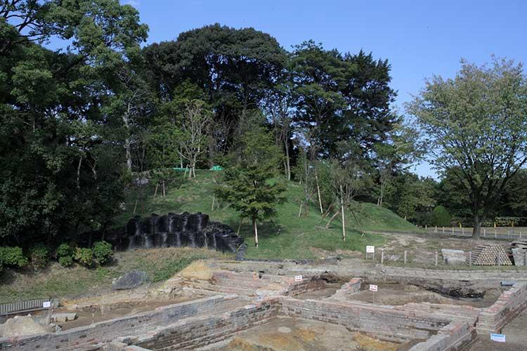 北園東調査区と権現山