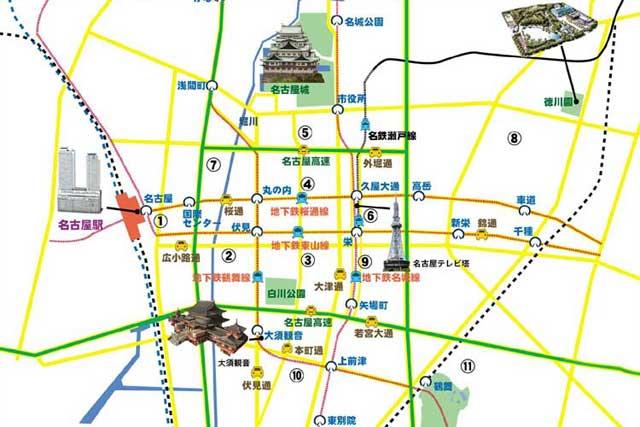 現在の名古屋城下町地域