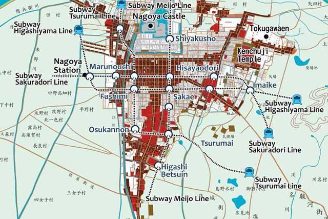 Nagoya Castle Town in Edo Period