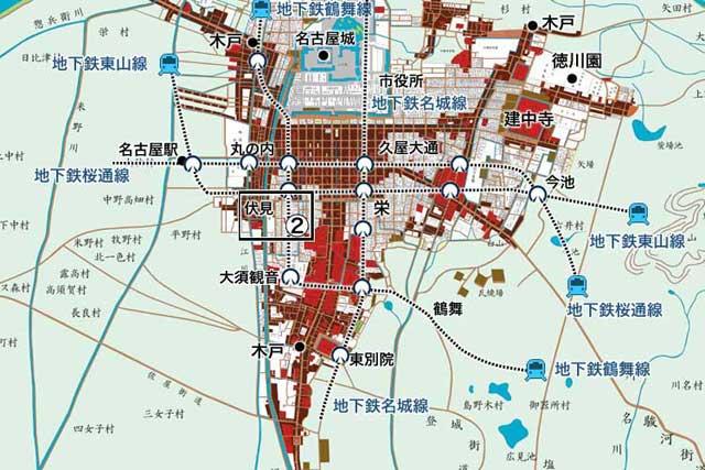 江戸時代の名古屋城下町