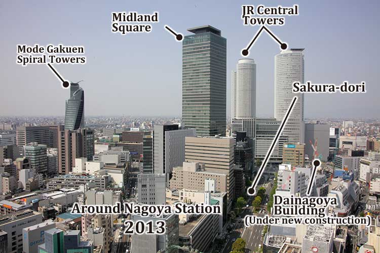 The circumference of the Nagoya station
