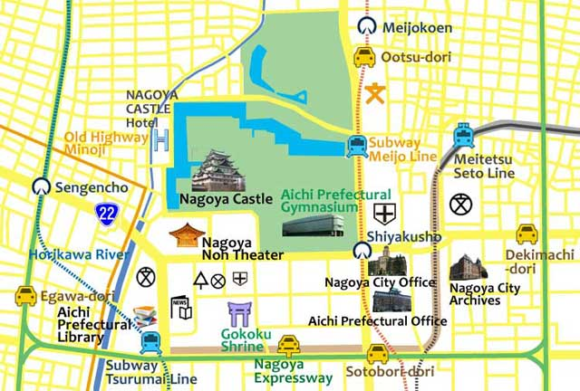 The circumference of Nagoya Castle(present)
