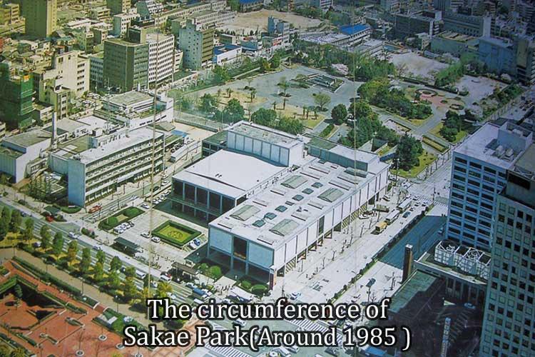 The circumference of Hisaya-odori Park
