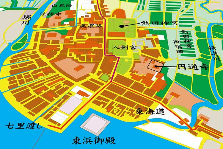 Map of the Edo period