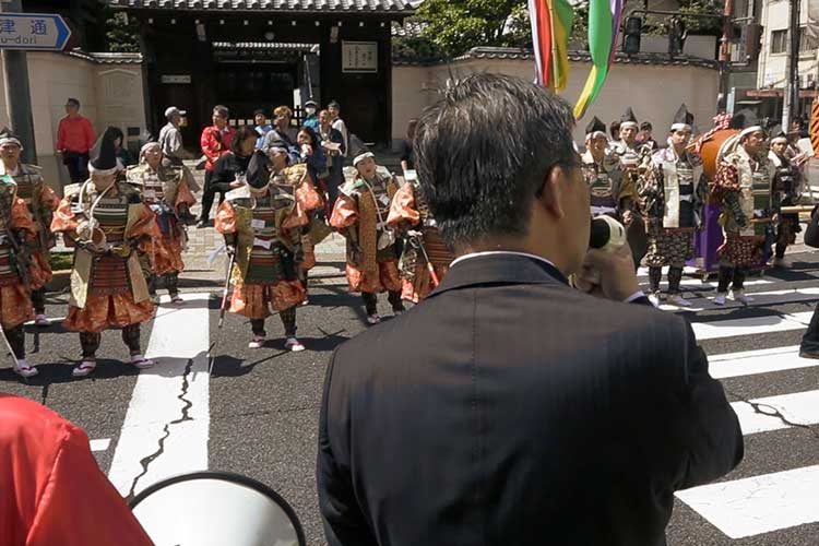 パレード出発前の挨拶