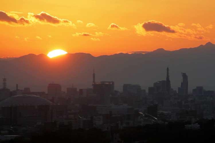 名古屋駅方面日没