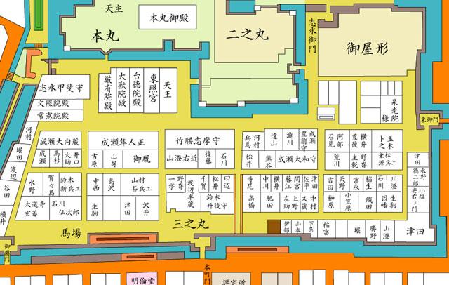 江戸時代地図(本町通5丁目~1丁目周辺)