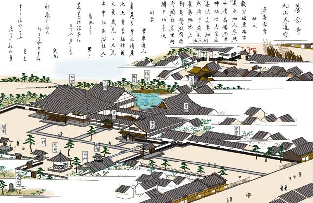 松山神社と養念寺