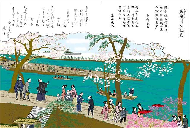 庄内川の花見