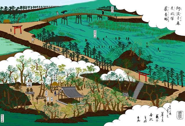 法界門橋と萱津神社