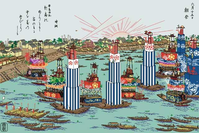 尾張津島天王祭り朝祭