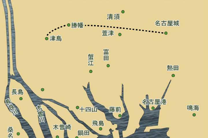 戦国時代の海岸線