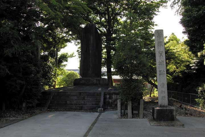 蜂須賀城跡碑