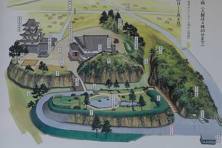 岩崎城址公園案内図