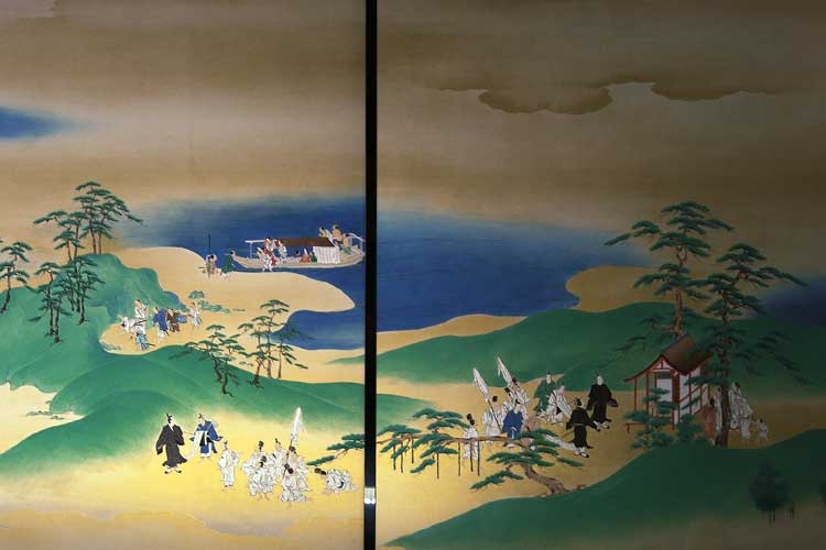 The fusuma painting of Lower Room of Audience Hall