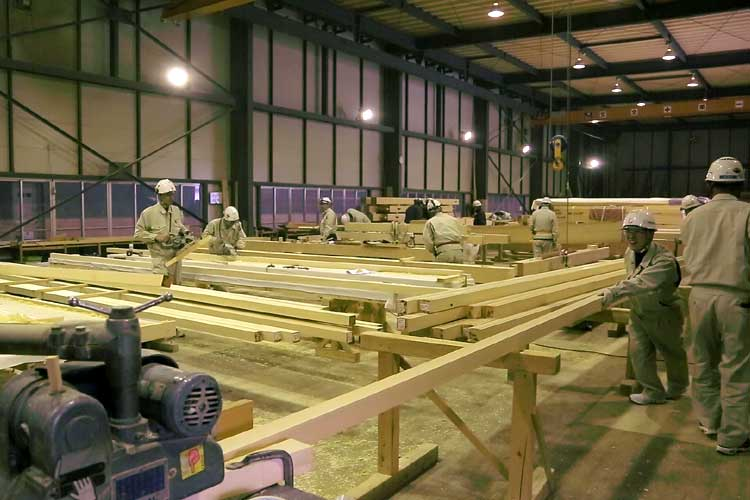 The wood processing place