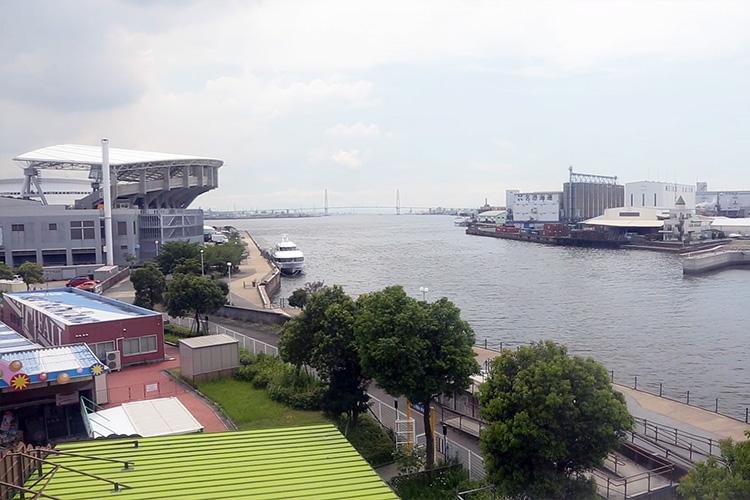 中川運河へ