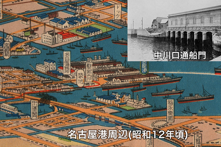 開設当時の中川口通船門