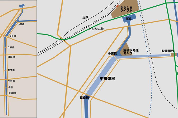 長良橋~堀止地図