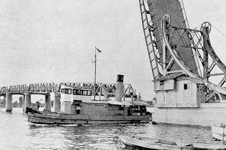 ⑦港新橋(昭和7年竣工)