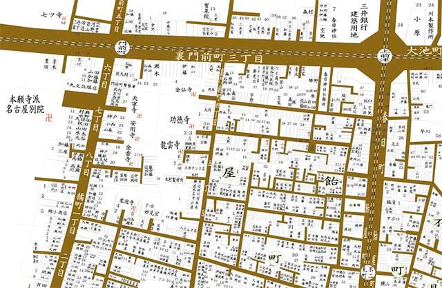 昭和8年頃の大須周辺
