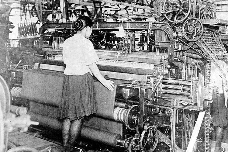 毛織物工場