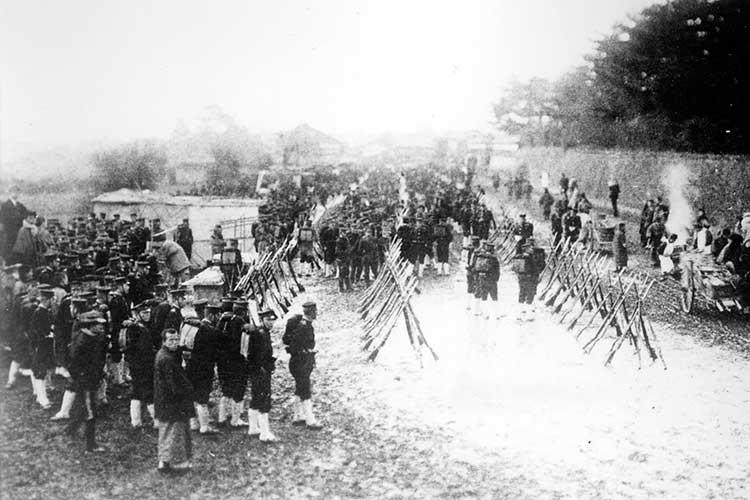 ②日露戦争、戦勝記念式典