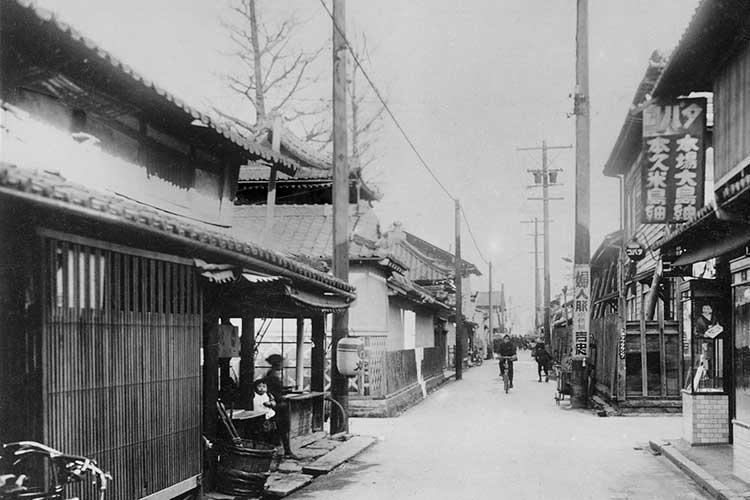 ⑯桜通完成前の風景