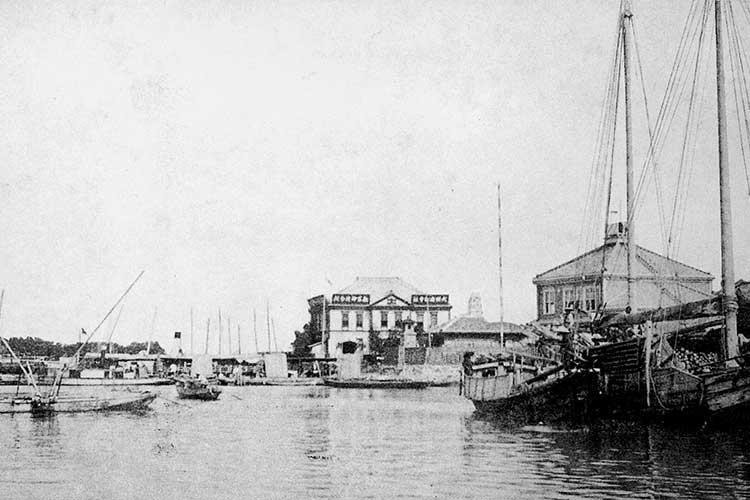 ①名古屋港開港前の熱田港
