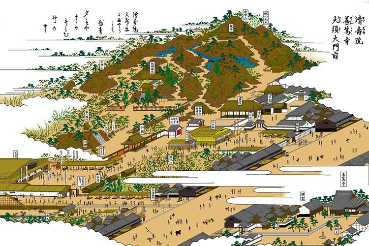 ②清寿院と門前町