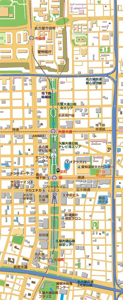 天明2年名古屋図(名古屋市博物館蔵)
