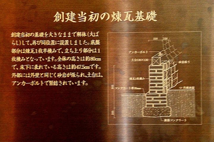 創設当時の煉瓦基礎解説