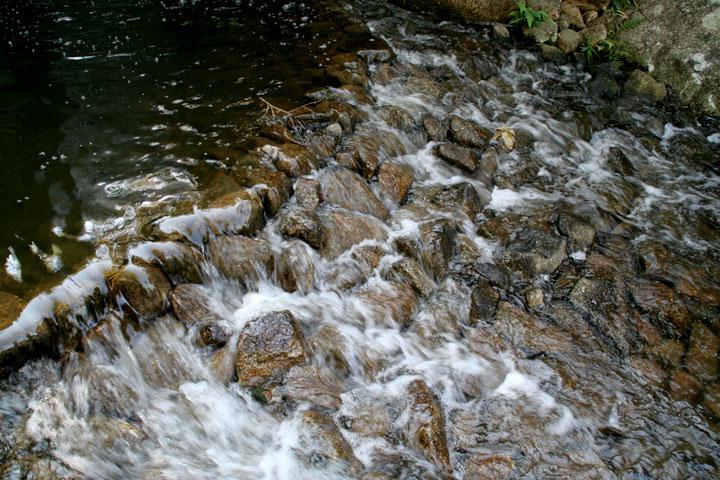 龍門の瀧から流れた水