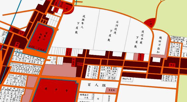 江戸後期の徳川園周辺地図