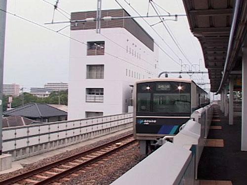 稲永駅へ到着