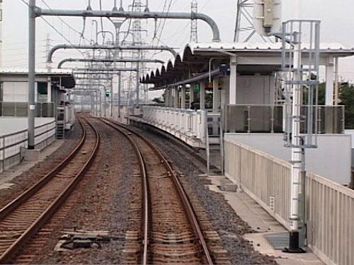 稲永駅出発