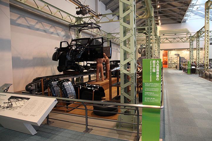 AA型乗用車の組立工程