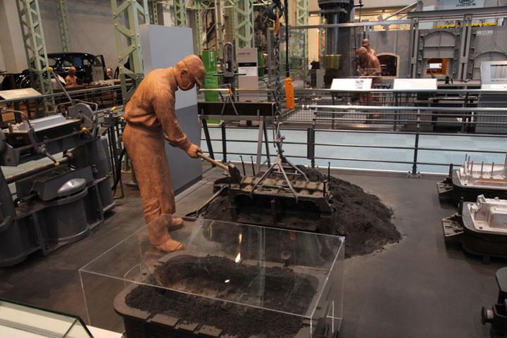 エンジンシリンダブロックの鋳造工程